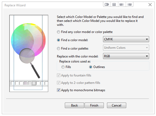 Repeat for Outlines - CMYK to RGB