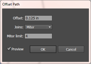 Offset Dialog Default Settings