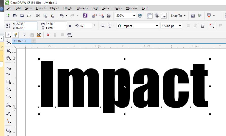 Adding an Italic / Oblique Effect to a non-Italic Font - CorelDRAW X7