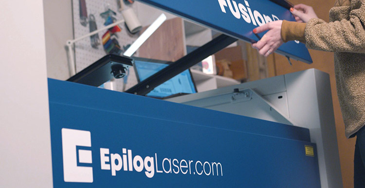 The all-new epilog laser logo.