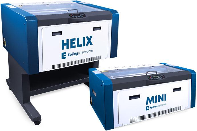 Epilog MiniおよびHelixレーザー彫刻機と切削機