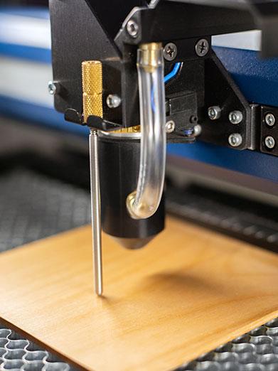 lensopties voor fusion edge voor verschillende graveertechnieken