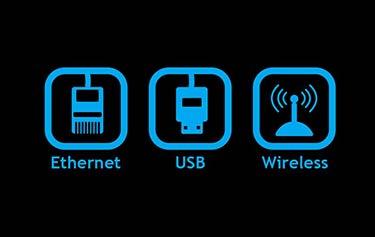 Ethernet-, USB- en draadloze verbindingen