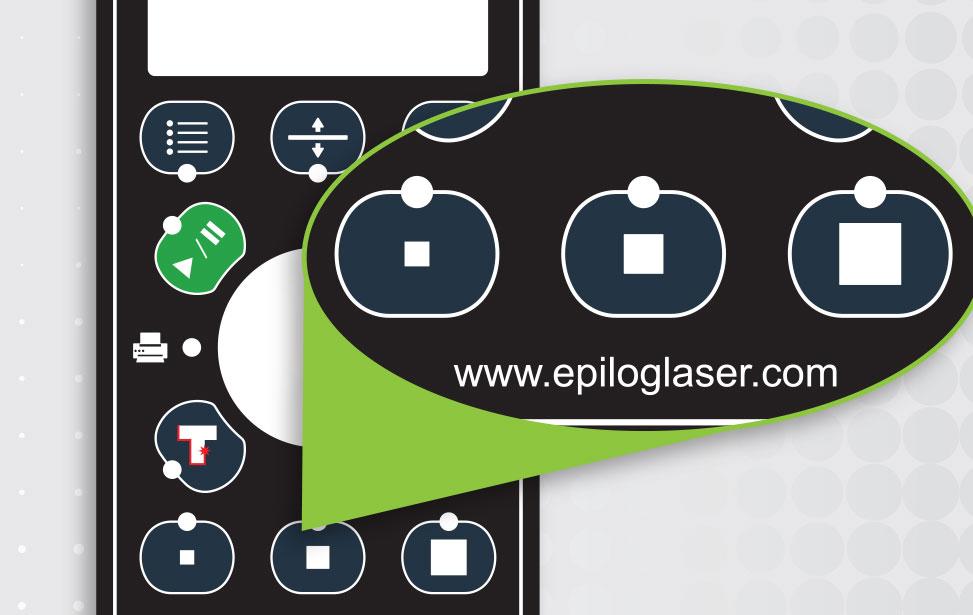 Med G2-laseren kan du ændre bordstørrelsen fra tastaturet.