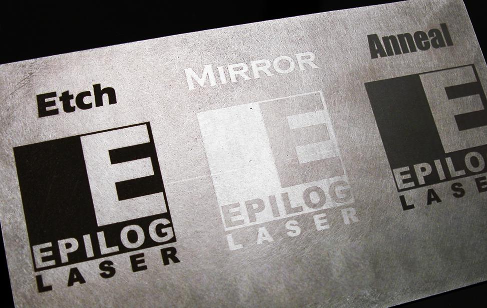 etch laser, metale poloneză și recoacere.