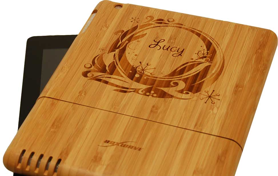 Bamboo Ipad Cover Engraving With A Laser