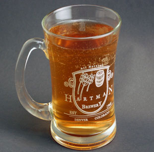 laser engraved beer mug