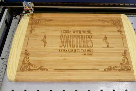 complete engraved cutting board