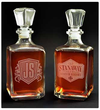 Customized whisky decanter