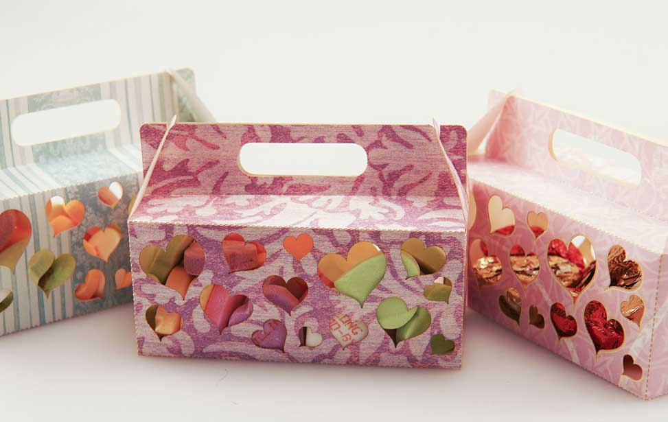laser cut candy box