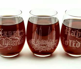 laser engraving wine glasses