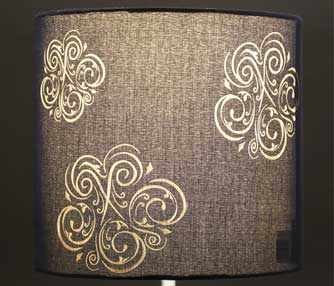 etching fabric lamp shade