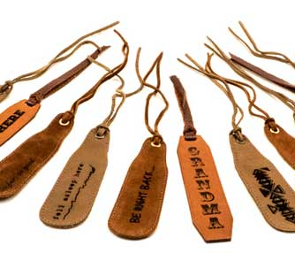 laser engraving leather bookmarks