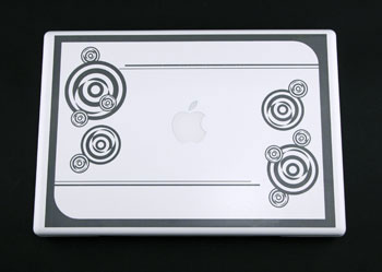 White Macbook Engraving With A Fibermark