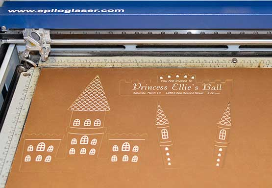 Laser Cutting And Engraving Matboard Invitations