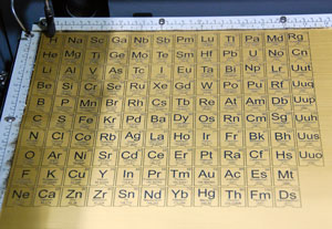 Laser Cut And Engraved Periodic Table Of Elements