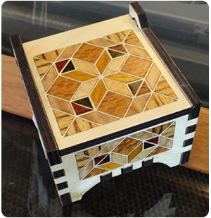 Wood Veneer Box Inlay