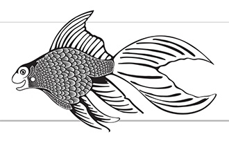 Corel file of the 3D fish.