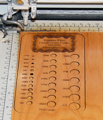 wood drill gauge laser engraving