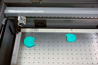 playdoh in the laser.