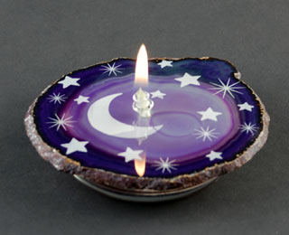 agate oil candle engraving