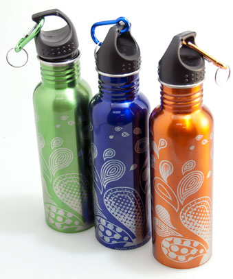 Laser Engraving A Painted Steel Water Bottle