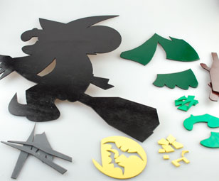 laser cut halloween pieces