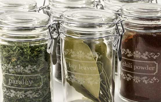 Laser Etching Glass Spice Jar