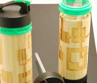 bamboo water bottle.