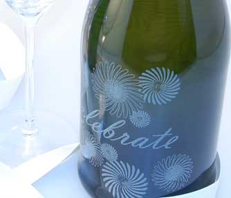 champagne bottle engraving