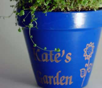 clay planter engraving