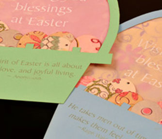 Laser cut an easter card with an Epilog.