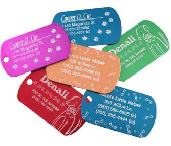 Pet tag engraving.