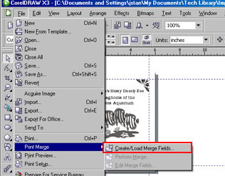 Print Merge in CorelDRAW