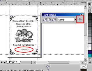Print Merge in CorelDRAW