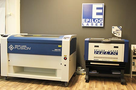 epilog fusion m2 and helix laser machines