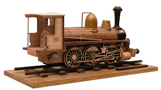 laser cut model train piece