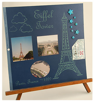 laser engraved scrapbook pages