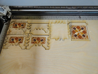 vector cutting box inlay pattern