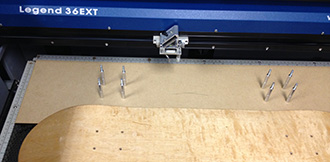 skateboard jig parts and hardware