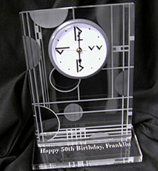 acrylic lasered clock