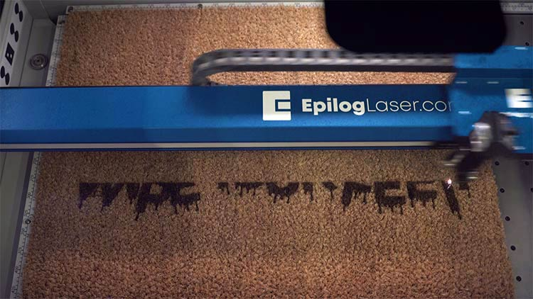 halloween doormat engraving at the fusion pro progression1