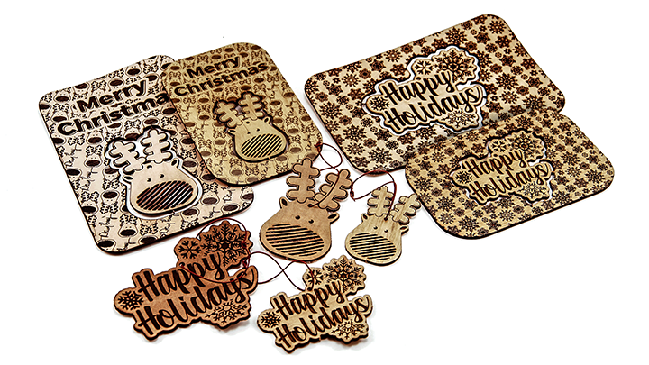 Zeer Laser Cut Christmas Cards with Pop Out Ornaments #GS93