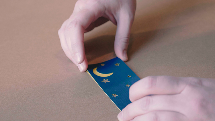 Assembling laser cut bookmarks