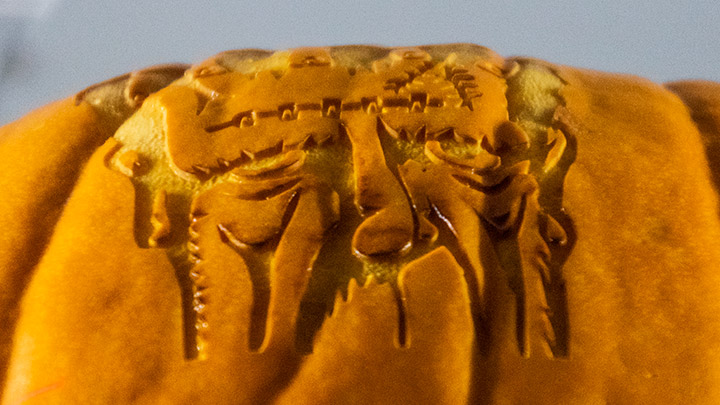 Engraving a pumpkin