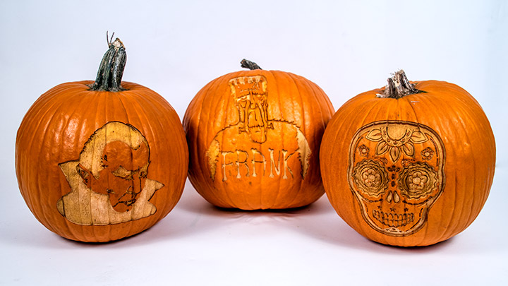 custom laser engraved pumpkins