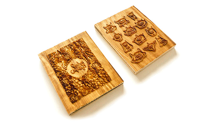 laser engraved wooden stamps